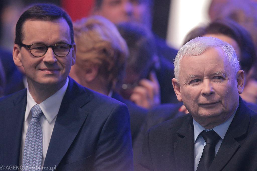 Mateusz Morawiecki i Jarosław Kaczyński.