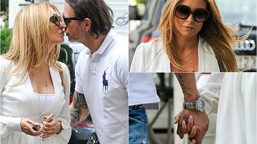 Małgorzata Rozenek i Radosław Majdan po powrocie z wakacji wybrali się na spacer. Uśmiechnięci trzymali się za ręce, a w pewnym momencie Radosław Majdan nie mógł się powstrzymać i namiętnie pocałował swoją przyszłą żonę.