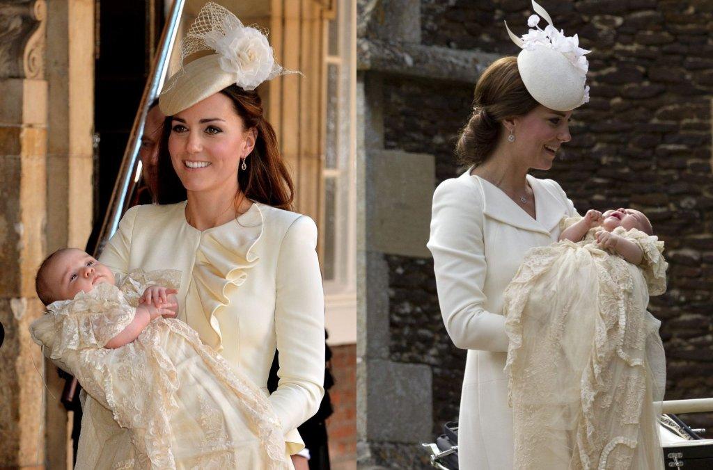 Chrzest księcia Jerzego w październiku 2013 roku i chrzest księżniczki Charlotte