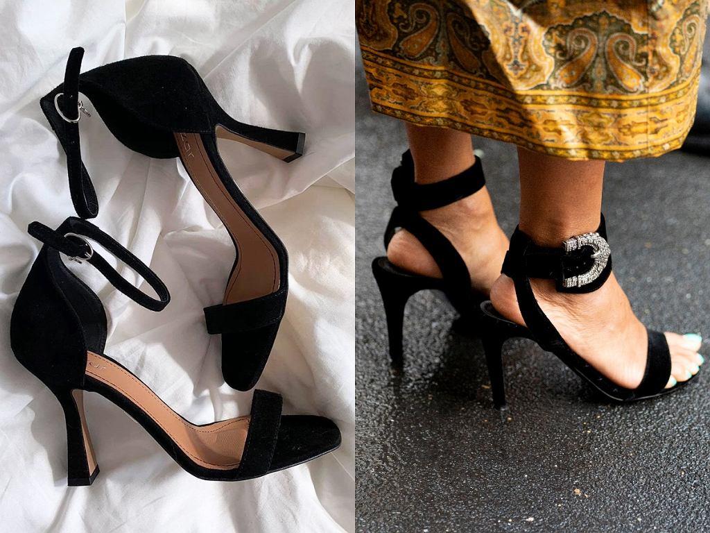 sandały z paskami