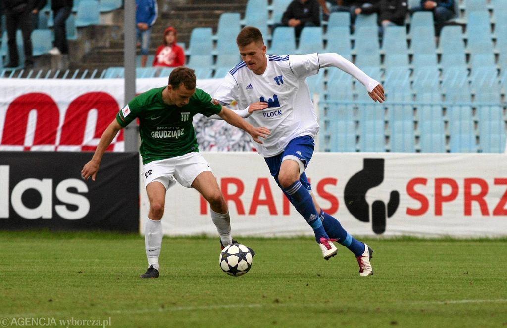 Piłka nożna, I liga. Wisła Płock - Olimpia Grudziądz 0:1