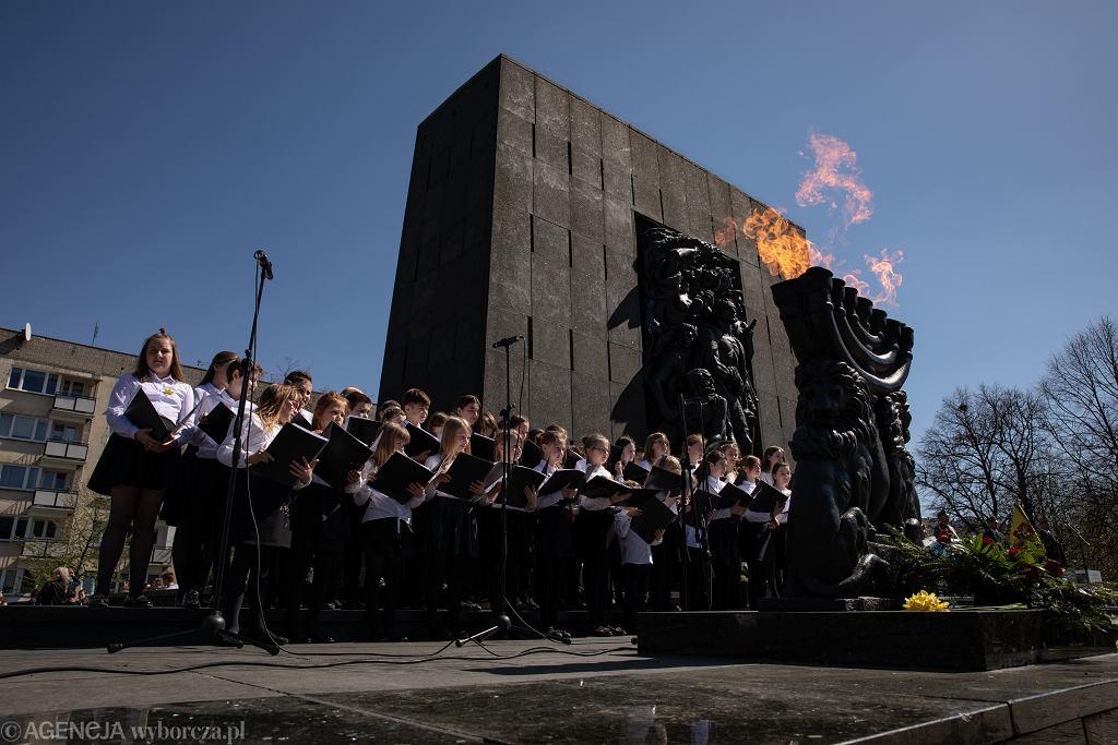 76. rocznica powstania w getcie warszawskim. Uroczystości przy Pomniku Bohaterów Getta