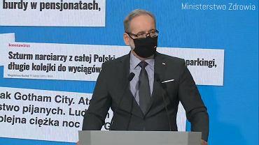 Konferencja ministra zdrowia. Niedzielski o obostrzeniach