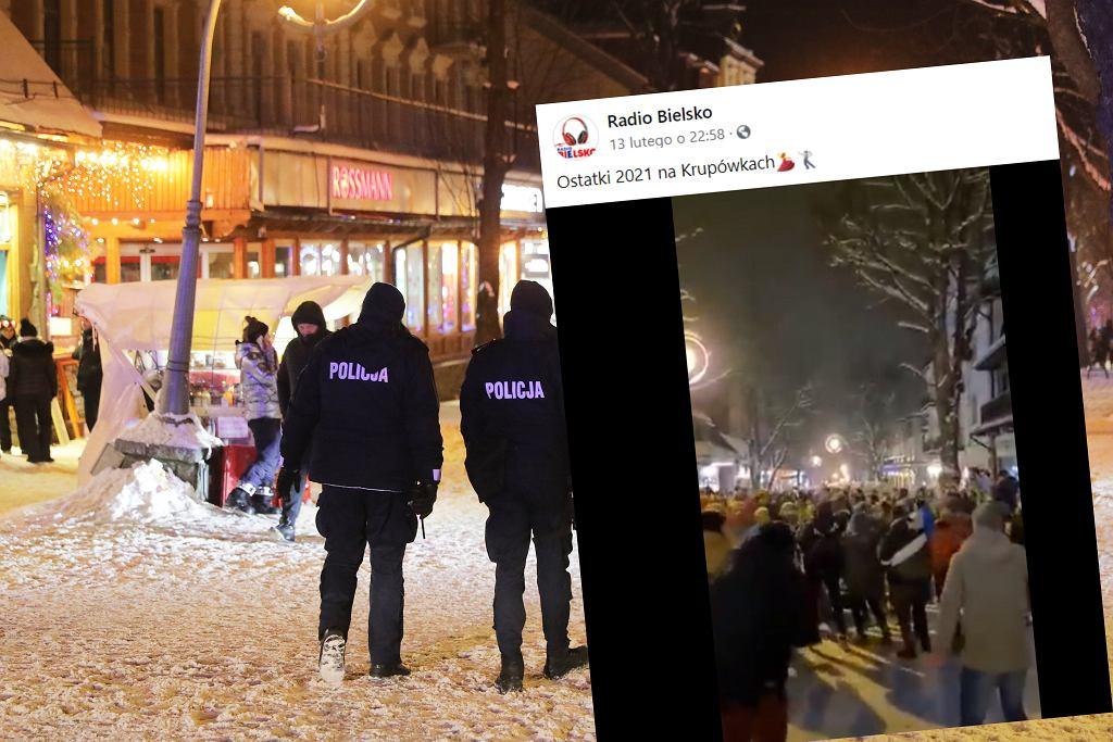Mimo obostrzeń tłumy świętowały ostatki na Krupówkach