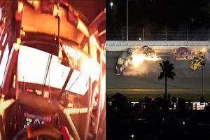 Dramatyczny wypadek na Daytona 500 tuż przed metą. Jest nagranie z kokpitu [WIDEO]