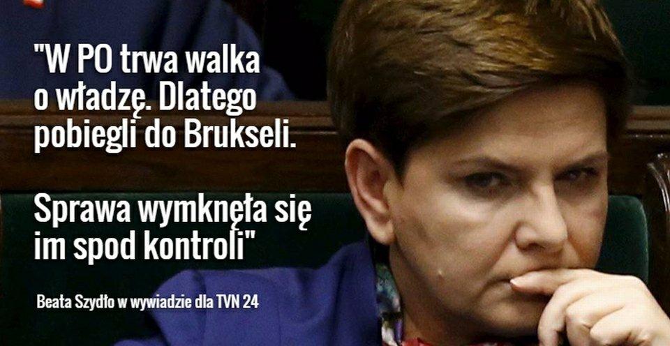 Beata Szydło o wprowadzeniu procedury monitorowania praworządności w Polsce