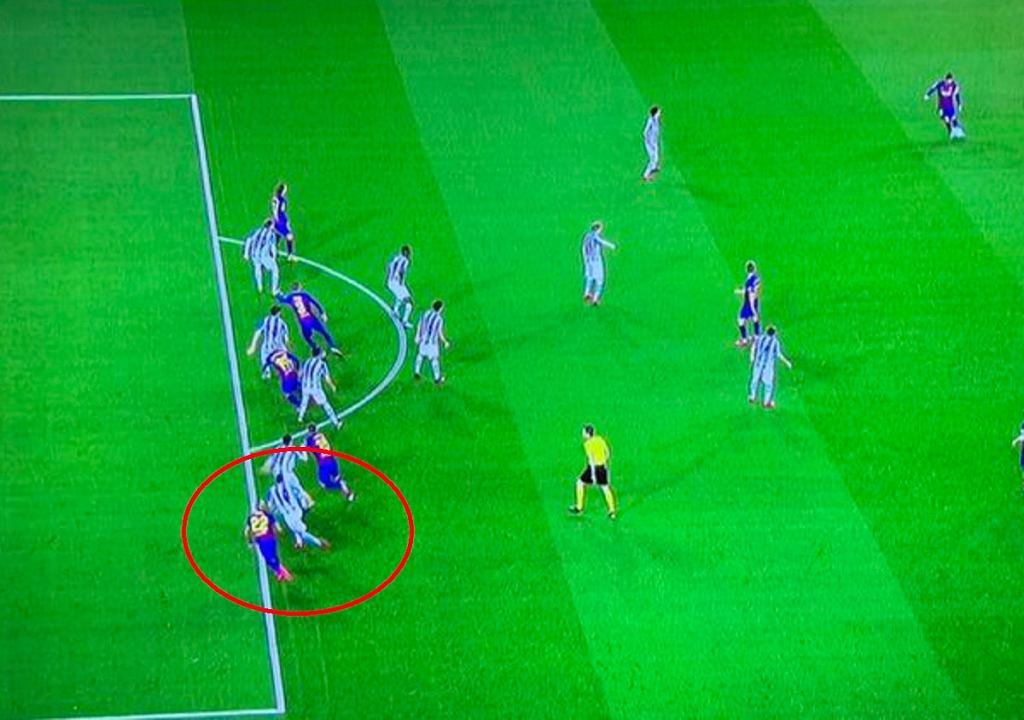 Kontrowersje po bramce Barcelony w meczu z Realem Sociedad