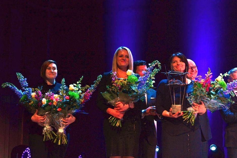 Laureatki Nagrody Radia TOK FM za 2016 - nauczycielki z Zabrza, organizatorki Czarnego Protestu
