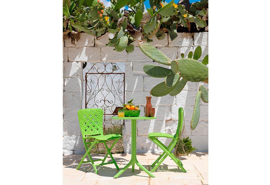 Nardi - zestaw ogrodowy krzesło składane Zac i stolik Spritz