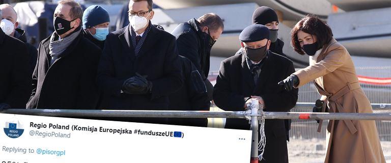 Rząd na placu budowy tunelu w Świnoujściu: Unia: Daliśmy 85 proc.