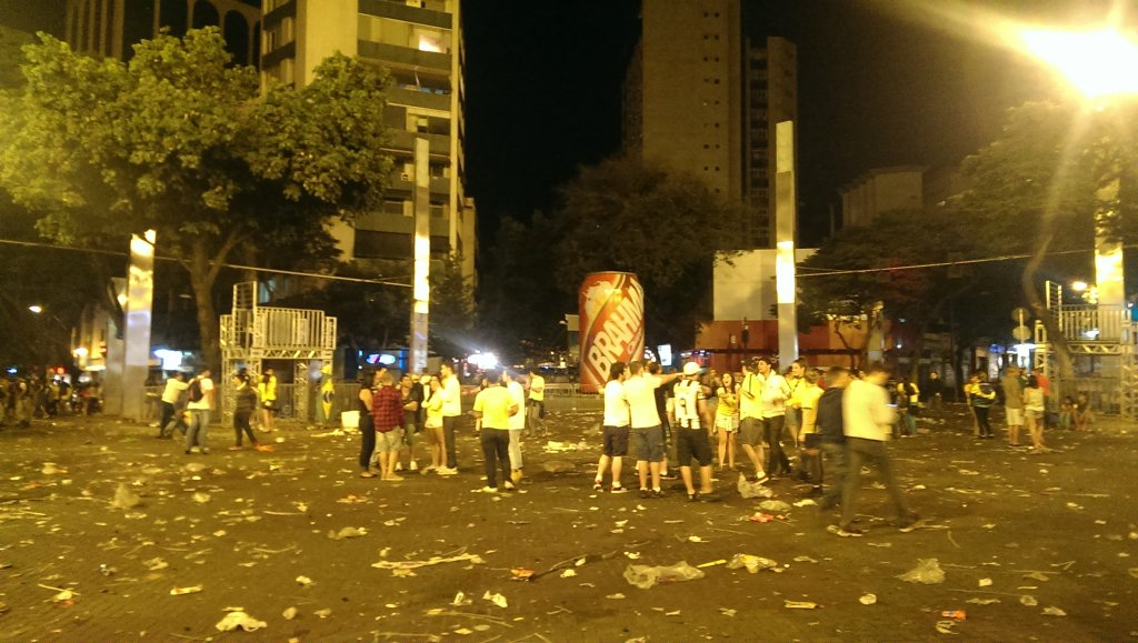 Strefa kibica po meczu z Niemcami w Belo Horizonte