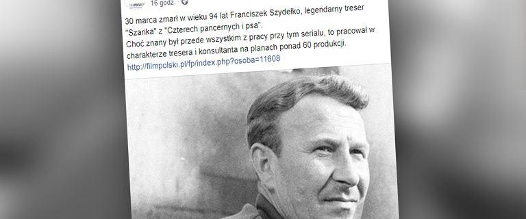 """Nie żyje Franciszek Szydełko, treser Szarika z """"Czterech pancernych i psa"""""""