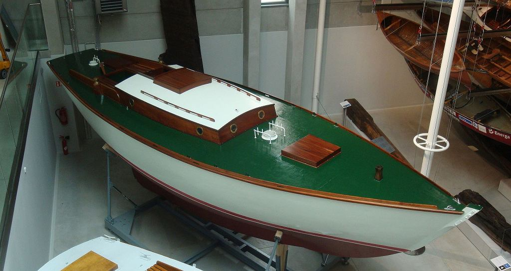 Jacht 'Opty' na wystawie w Centrum Konserwacji Wraków Statków w Tczewie