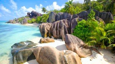 Seszele, plaża na wyspie La Digue
