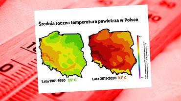 Temperatura w Polsce rośnie