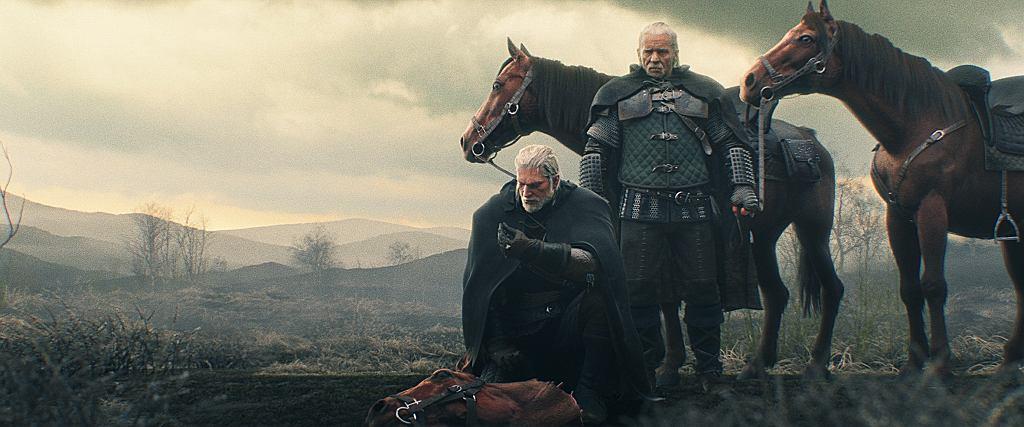 Geralt i Vesemir, intro do gry 'Wiedźmin 3: Dziki Gon'