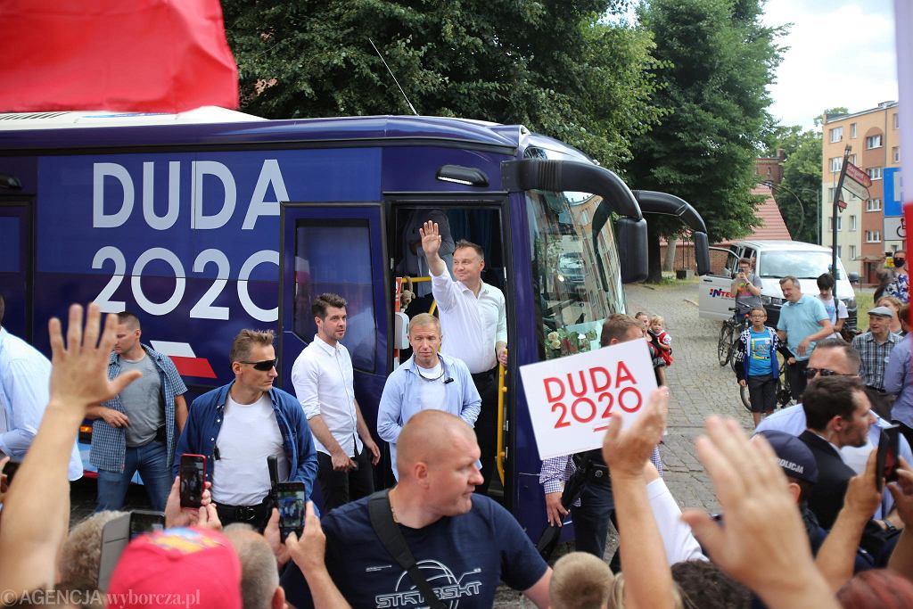 Andrzej Duda przed wiecem wyborczym w Stargardzie