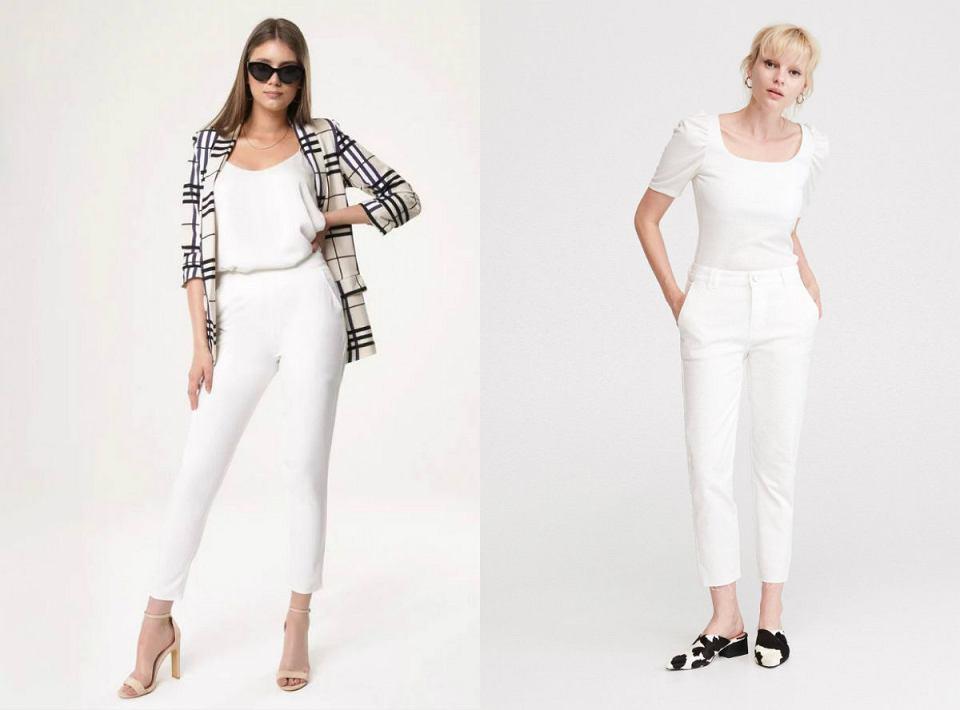 Białe spodnie na lato
