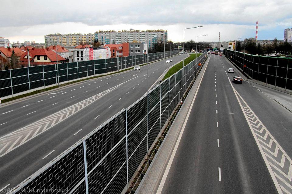 Kielce, miejski odcinek drogi S74