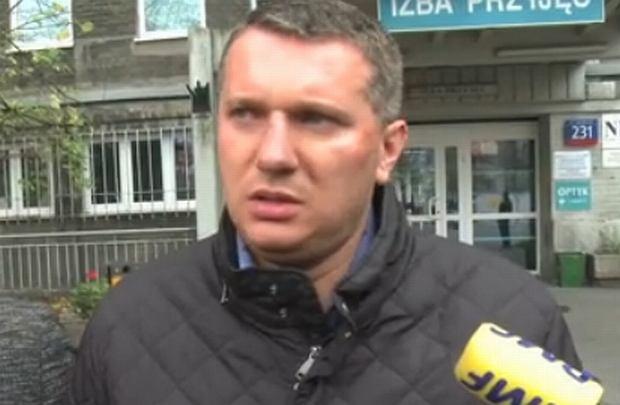 Przemysław Wipler pod szpitalem
