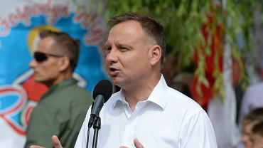 Andrzej Duda podczas kampanii wyborczej .