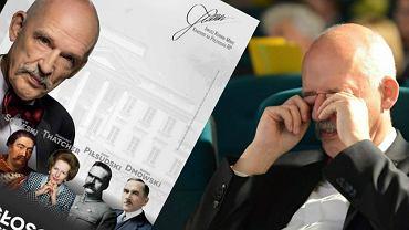 Plakat wyborczy Janusza Korwin-Mikkego