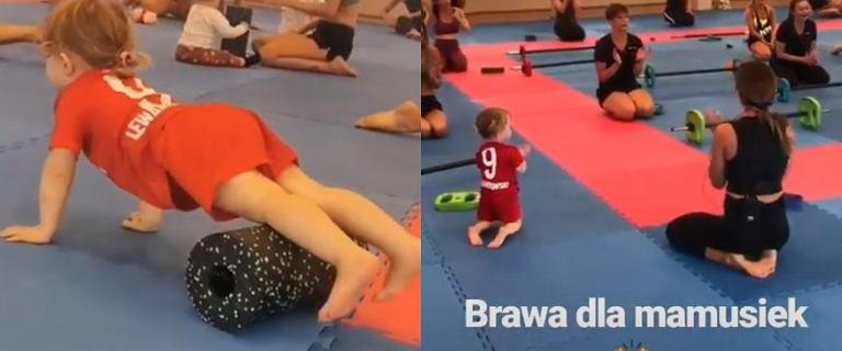 Klara Lewandowska daje czadu na treningu. To wcale nie są ćwiczenia dla początkujących!