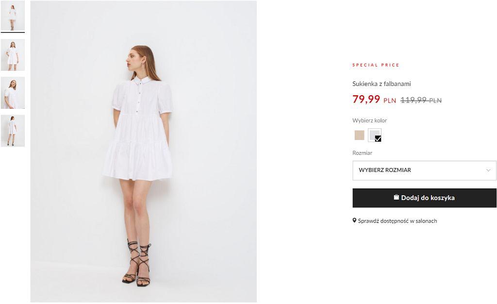 sukienka babydoll biała
