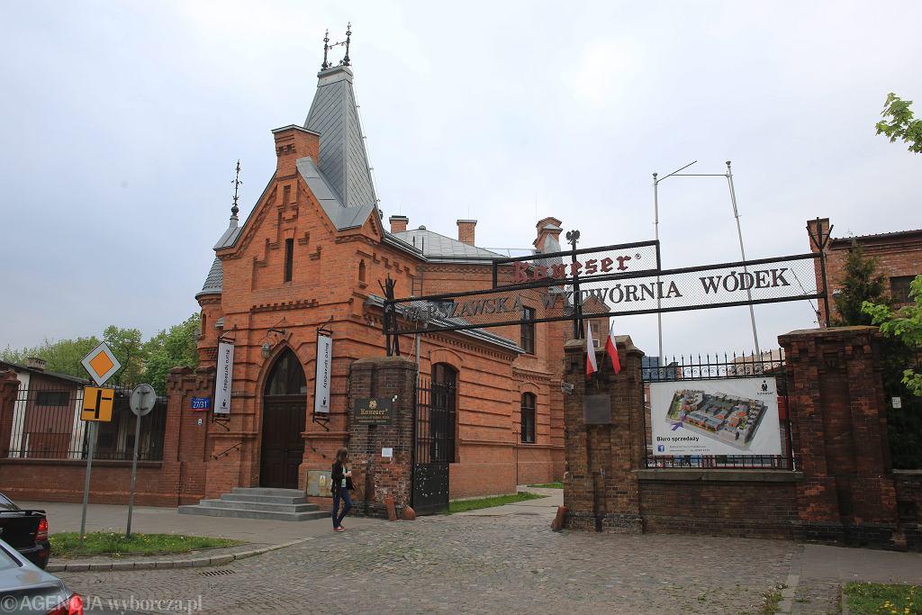 Budynek na terenie Warszawskiej Wytworni Wodek Koneser