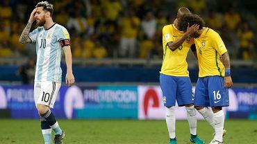 Brazylia pokonała Argentynę 3:0. Na zdjęciu smutny Leo Messi