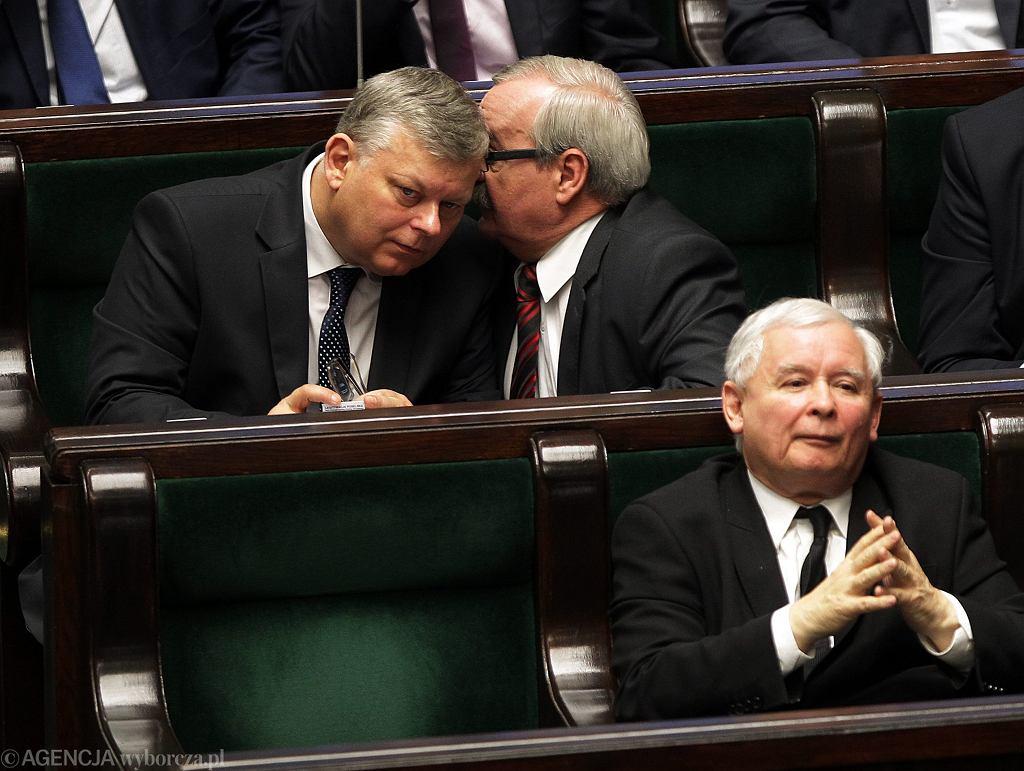 Marek Suski i Jarosław Kaczyński