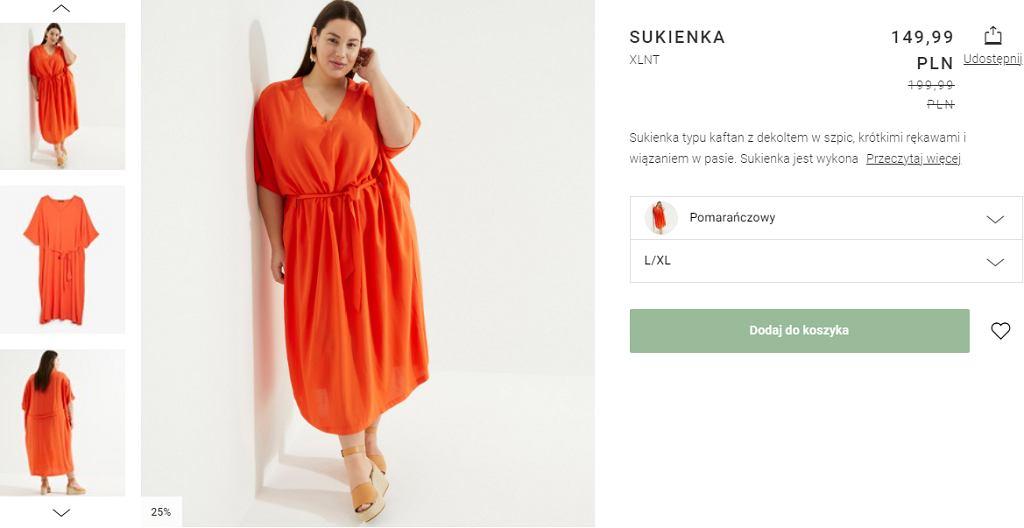 sukienka plażowa z paskiem w talii plus size kappahl