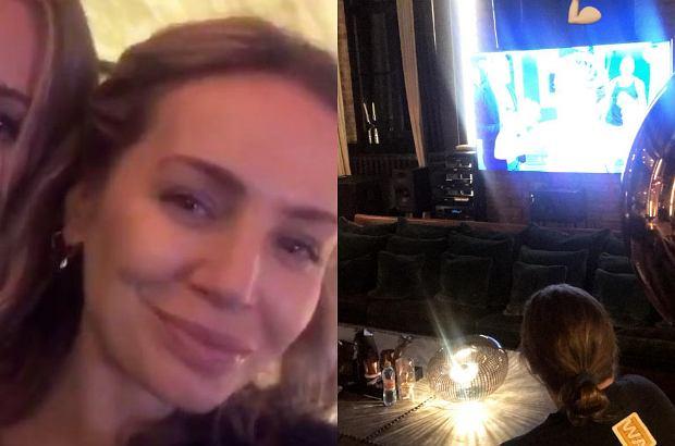Agnieszka Woźniak-Starak i Małgorzata Rozenek razem oglądają 'Iron Majdan'
