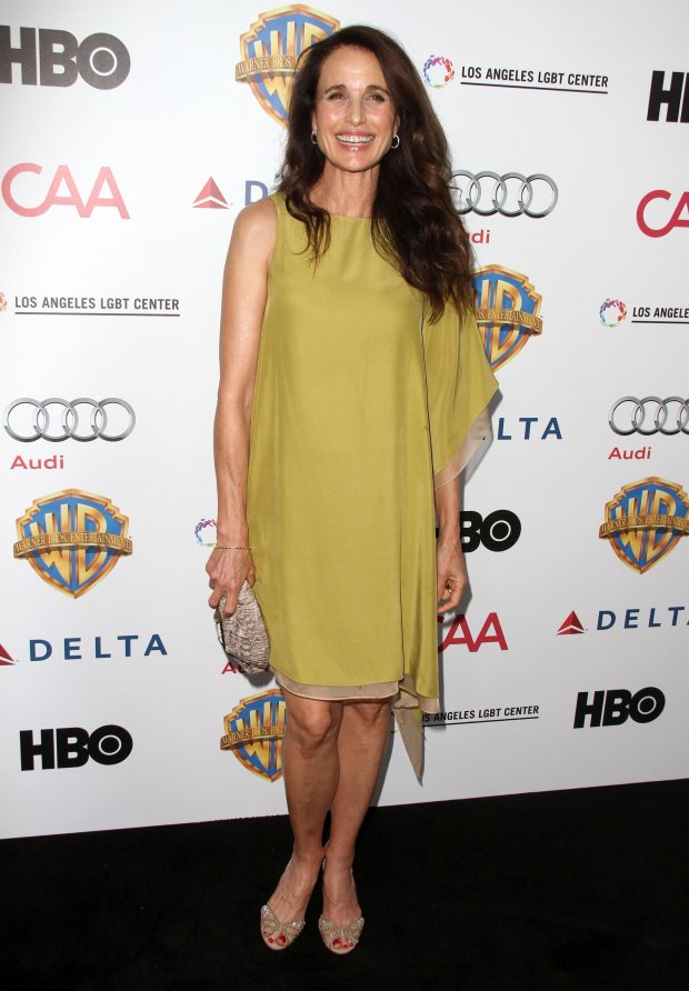 Photo ?? 2015 NPA/The Grosby Group  Chairs For Charity Benefiting Homeless Youth Services at the Los Angeles LGBT Center held at The Washbow in Culver City, California on 9/24/15  In this photo:Andie MacDowell