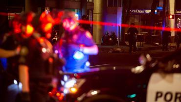 Miejsce zastrzelenia jednego z demonstrantów w Portland
