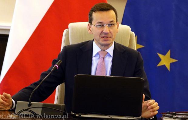 Premier Morawiecki na posiedzeniu rządu