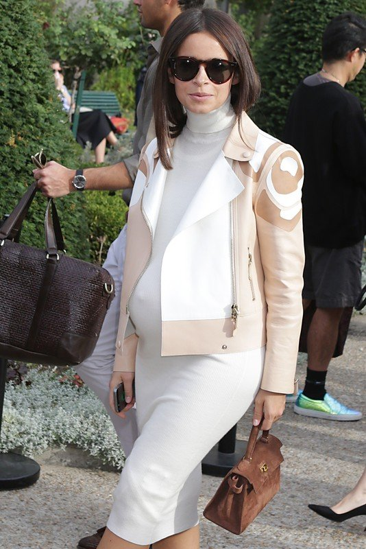 fMiroslava Duma seen at the Chloe S/S 2015 show in Paris during Fashion Week.  Pictured: Miroslava Duma