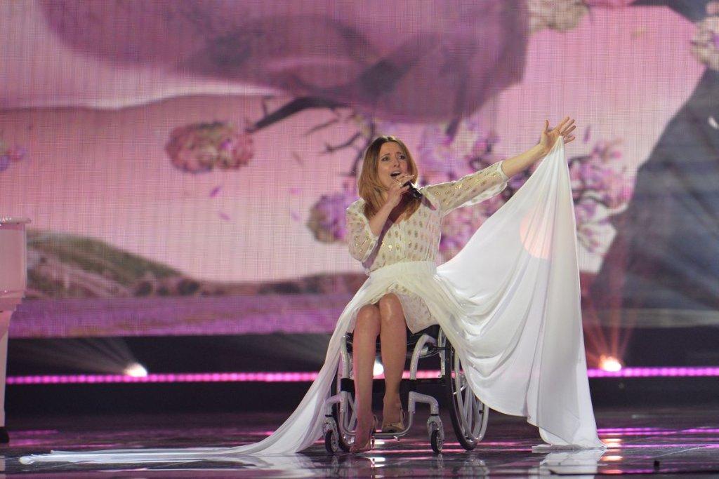 Eurowizja 2015 - reprezentntka Polski, Monika Kuszyńska tak prezentowała się na scenie w zeszłym roku.