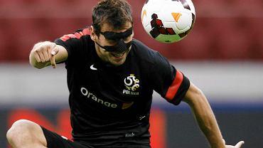 Grzegorz Krychowiak podczas treningu kadry
