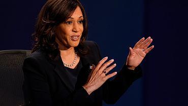 Senator Kamala Harris podczas debaty telewizyjnej, 7 października 2020.