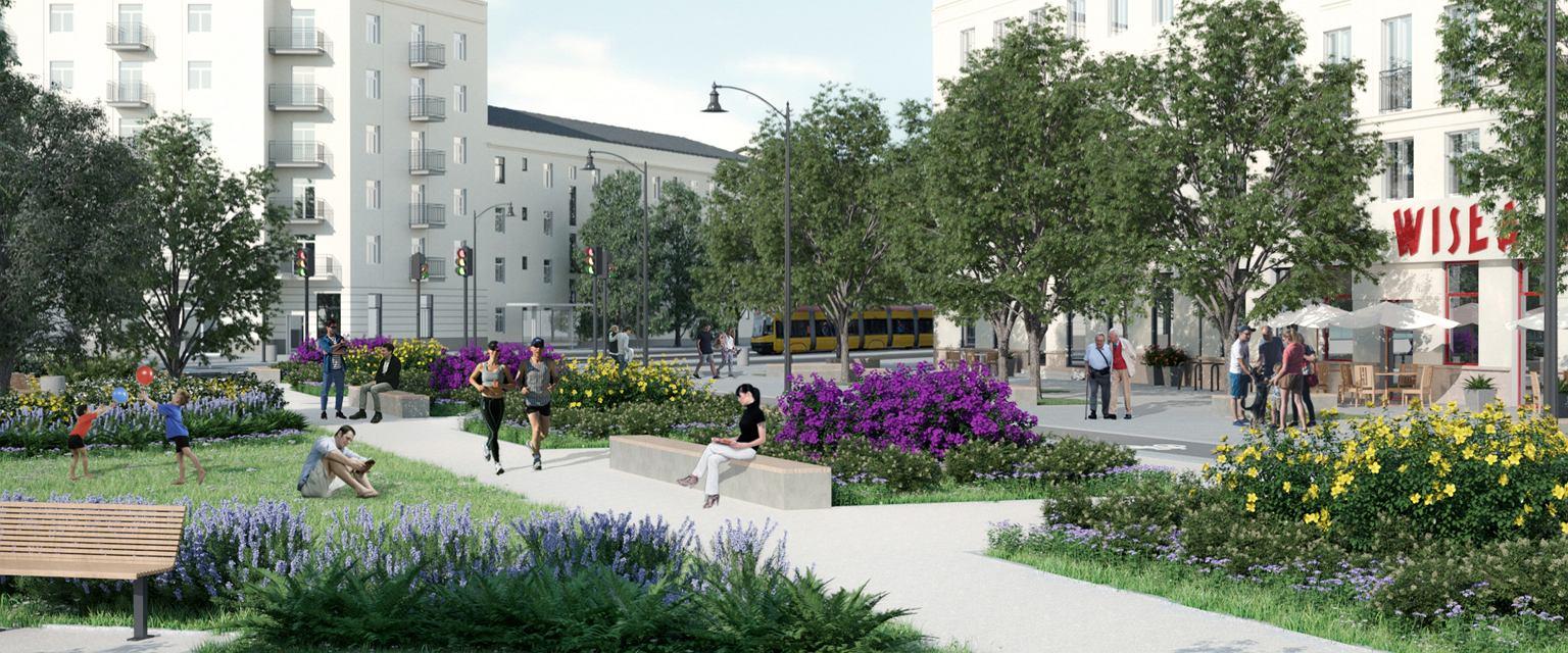 Propozycja zmian na Placu Wilsona (Wizualizacja: Agata Garstecka)