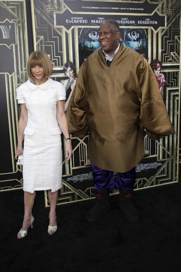 American Vogue Editor-in-chief Anna Wintour and former American Vogue Editor-in-chief Andre Leon Talley attend the 'The Great Gatsby' world premiere at Avery Fisher Hall at Lincoln Center for the Performing Arts in New York May 1, 2013. REUTERS/Andrew Kelly (UNITED STATES - Tags: ENTERTAINMENT)