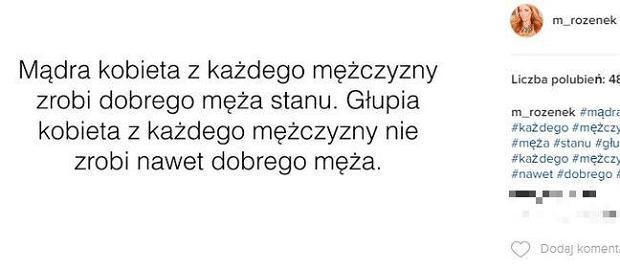 Screen z instagram.com/m_rozenek/