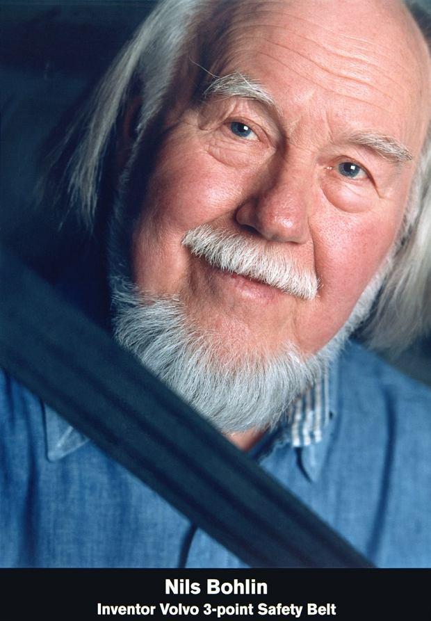 Nils Bohlin wynalazca trzypunktowych pasów bezpieczeństwa
