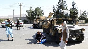 Taliban in a police station outside Kabul airport