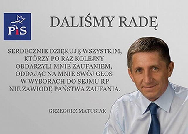 Grzegorz Matusiak, poseł PiS z Jastrzębia Zdroju