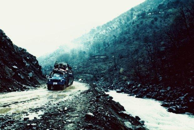 Samochód ekspedycji himalajskiej z 1986 roku fot. archiwum prywatne ''Bystrza''
