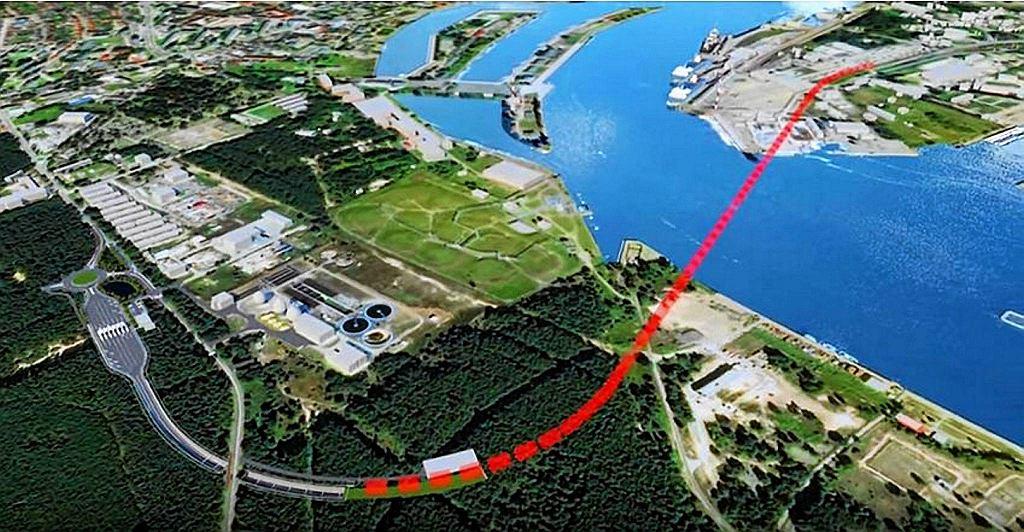 Tak ma przebiegać tunel pod Świną. Ujęcie od strony wyspy Uznam