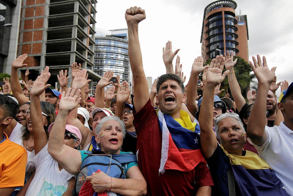 Antyrządowe protesty w Caracas. Wenezuela, 23 stycznia 2019