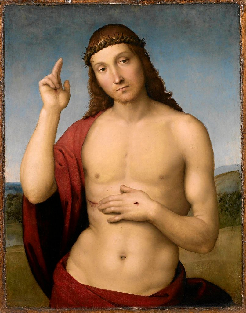 Rafael(Urbino1483 - Rzym 1520)Chrystus błogosławiący / Rafael (Urbino1483 - Rzym 1520) Chrystus błogosławiący. Muzeum Narodowe w Warszawie